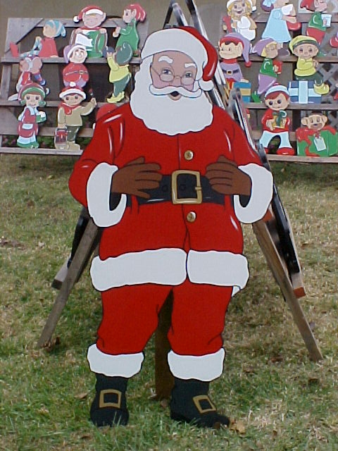 Looking for santa idea for a cutout plywood coro cutouts for Wooden christmas cutouts